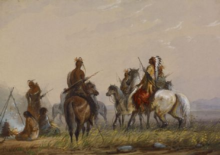 Miller, Alfred Jacob: Expedition to Capture Wild Horses - Sioux. Fine Art Print.  (003849)